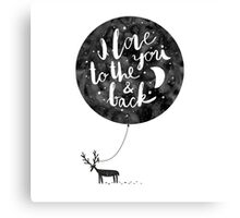hand drawn cute illustration with a deer, ballon and text Canvas Print