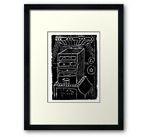 Why does it have roots? - a geometrically artistic interpretation of the future Framed Print