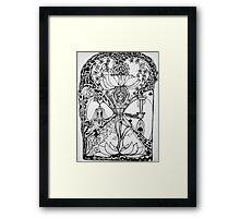 Treepose in tarot style Framed Print
