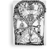 Treepose in tarot style Canvas Print