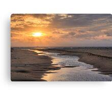 Evening sun over Race Point Beach, Cape Cod National Seashore, Massachusetts Canvas Print