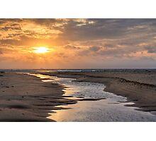 Evening sun over Race Point Beach, Cape Cod National Seashore, Massachusetts Photographic Print