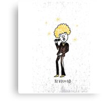 Seventies style singer Canvas Print
