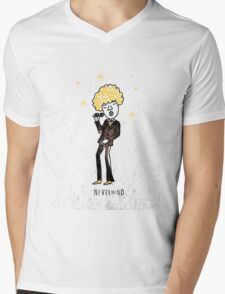 Seventies style singer Mens V-Neck T-Shirt