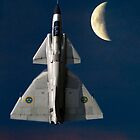 SAAB Viggen and The Moon by captureasecond