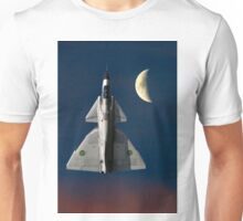 SAAB Viggen and The Moon Unisex T-Shirt