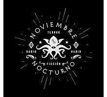 Noviembre Nocturno - Logo design Photographic Print