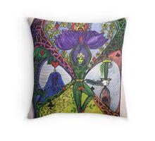 Treepose tarot style in color Throw Pillow