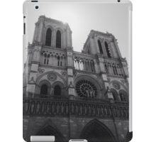Black and White Notre Dame iPad Case/Skin