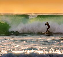 Surfer At Sunset by K D Graves Photography