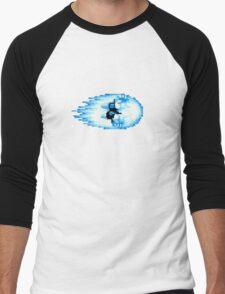 Street Fighter Hadouken Fireball pixel pattern Men's Baseball ¾ T-Shirt