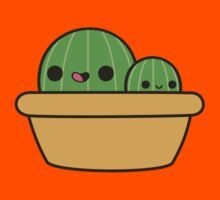 Cute cactus in yellow pot Kids Clothes