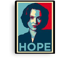 DANA SCULLY HOPE Canvas Print