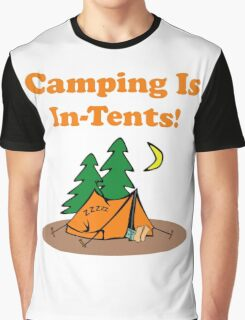 Camping In Tents Graphic T-Shirt