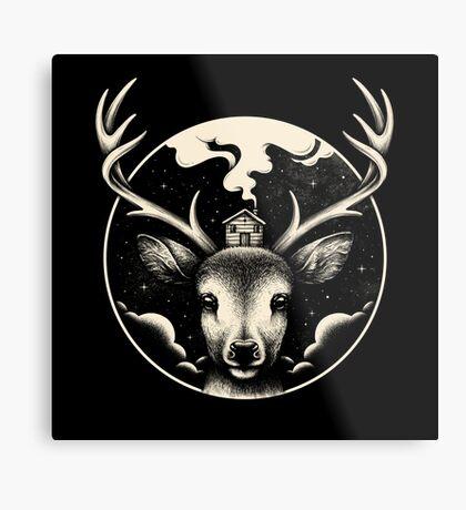 Deer Home Metal Print