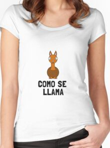 Como Se LLama Women's Fitted Scoop T-Shirt