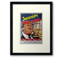Donald Trump vs the Mexi-cans 1950's Movie poster Framed Print