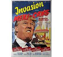 Donald Trump vs the Mexi-cans 1950's Movie poster Photographic Print