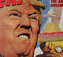 Donald Trump vs the Mexi-cans 1950's Movie poster Sticker
