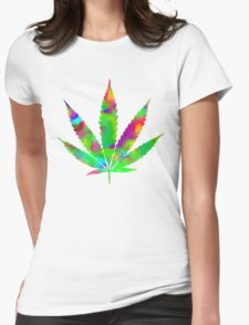 Weed Womens Fitted T-Shirt