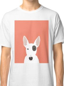 Bull Terrier pet gift dog breed cute puppy funny dogs spot terriers animal kids fur baby Classic T-Shirt