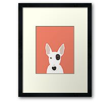 Bull Terrier pet gift dog breed cute puppy funny dogs spot terriers animal kids fur baby Framed Print