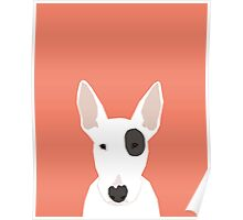 Bull Terrier pet gift dog breed cute puppy funny dogs spot terriers animal kids fur baby Poster