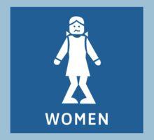 Women Toilet Sign, California, USA One Piece - Short Sleeve