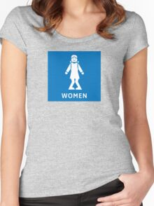 Women Toilet Sign, California, USA Women's Fitted Scoop T-Shirt