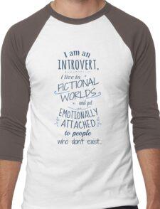 introvert, fictional worlds, fictional characters Men's Baseball ¾ T-Shirt