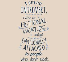 introvert, fictional worlds, fictional characters Womens Fitted T-Shirt
