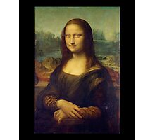 Leonardo da Vinci, Mona Lisa, La Gioconda, 1503, Louvre, Paris, France, on BLACK Photographic Print