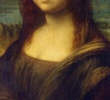 Mona Lisa, Leonardo da Vinci, La Gioconda, 1503, Louvre, Paris, France, on BLACK Sticker
