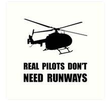 Helicopter Pilot Runways Art Print