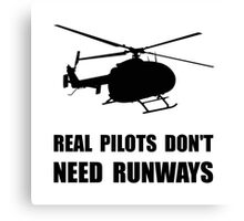 Helicopter Pilot Runways Canvas Print