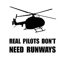 Helicopter Pilot Runways Photographic Print