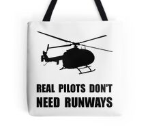 Helicopter Pilot Runways Tote Bag