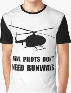 Helicopter Pilot Runways Graphic T-Shirt