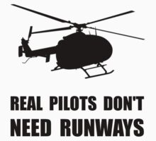 Helicopter Pilot Runways Kids Tee