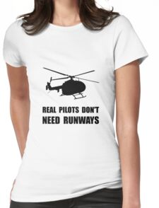 Helicopter Pilot Runways Womens Fitted T-Shirt