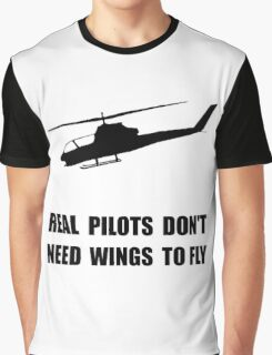 Helicopter Pilot Wings Graphic T-Shirt