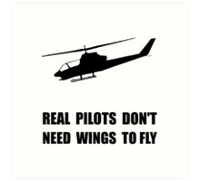 Helicopter Pilot Wings Art Print