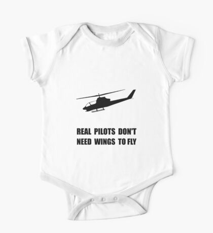 Helicopter Pilot Wings One Piece - Short Sleeve