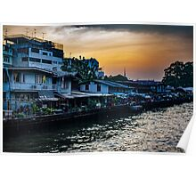 Night Light over the Slums Poster