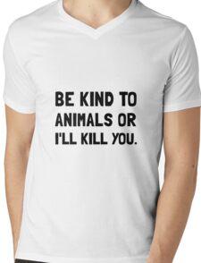Kind To Animals Mens V-Neck T-Shirt