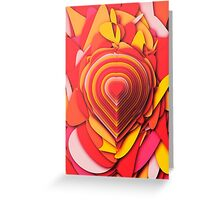 Heart Layers Greeting Card