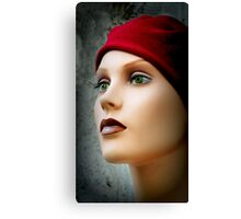 Red Cap, Green Eyes Canvas Print