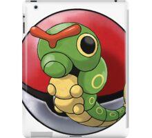 Caterpie pokeball - pokemon iPad Case/Skin