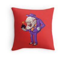 old joker Throw Pillow