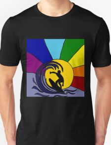 Cool Fun Surfer in the Sun and Waves Unisex T-Shirt